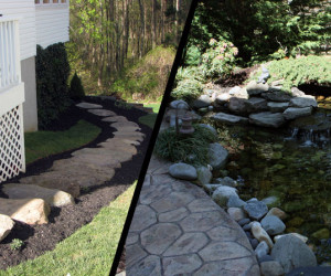 Side Yard Renovation & Water Feature